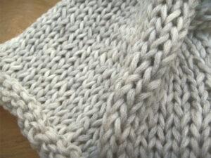 © die-maschen-zum-glueck.de Maschenbild der Alb Merion - regionale Wolle