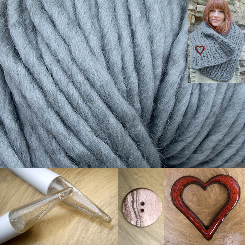 © die-maschen-zum-glueck.de Strickpaket mit Wolle, Nadeln, Anleitung - online kaufen