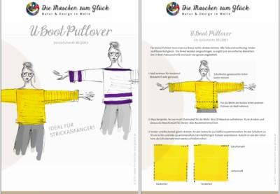 © die-maschen-um-glueck.de Strickanleitung Kastenpulli
