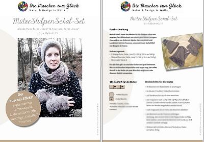 © die-maschen-um-glueck.de Strickanleitung Schal Stulpen Loop Mütze