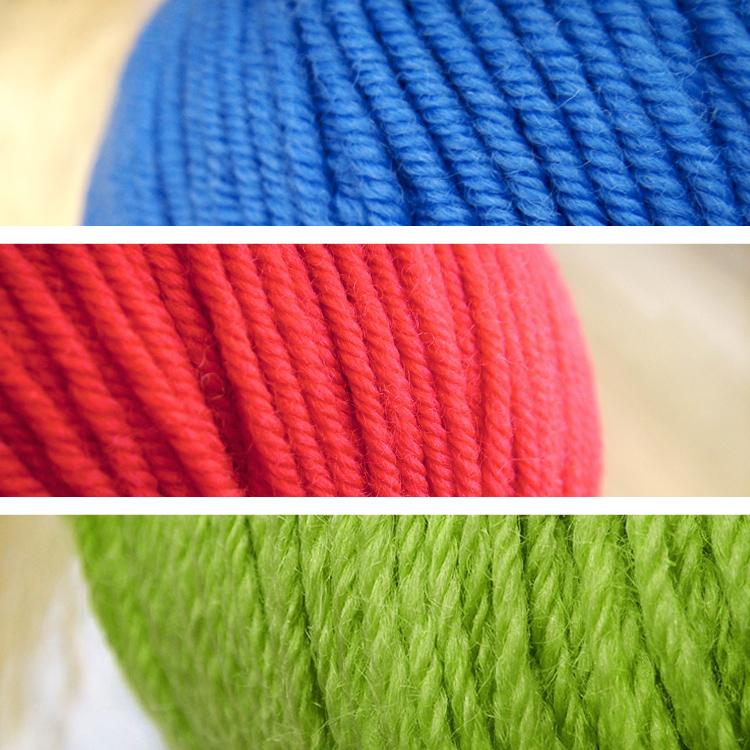 Leuchtende Sommerfarben Rot Grün Blau