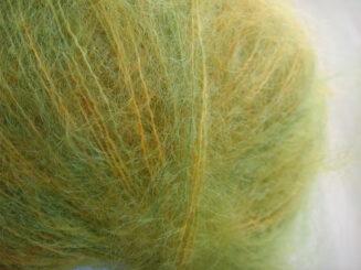 © Die Maschen zum Glück | Kid Mohair Grün-Gelb-Orange von Atelier Zitron