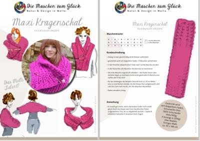 © die-maschen-zum-glueck.de dicker Kragenschal mit Anleitung