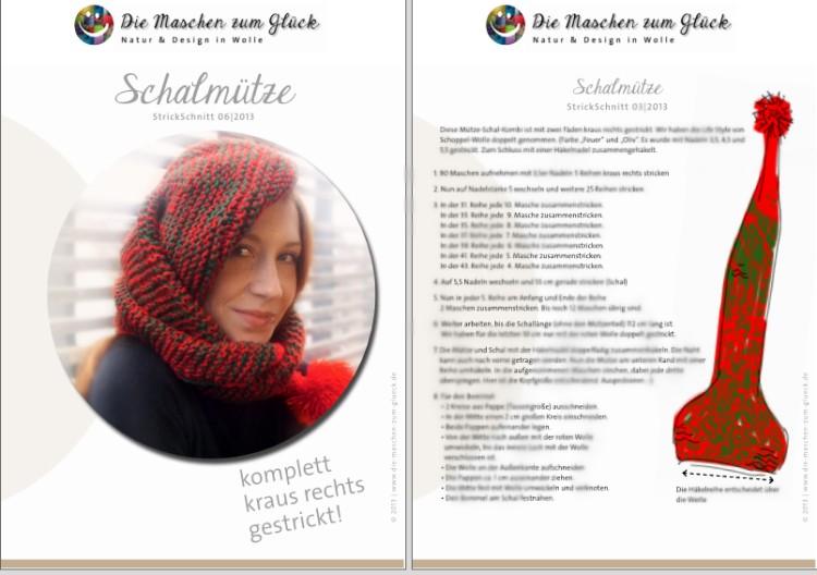 © die-maschen-um-glueck.de Strickanleitung Schalmütze