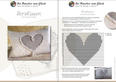 © die-maschen-um-glueck.de Strickanleitung Herzkissen