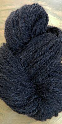 © die Maschen zum Glück | Ziegenhaargarn in Schwarz