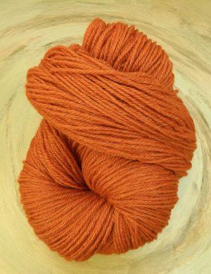 © Die Maschen zum Glück | Ramie Sockengarn Orange Rost von Seehawer & Siebert