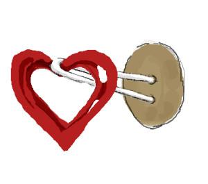 © Die Maschen zum Glück | Herz Gegenknopf