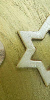 © Die Maschen zum Glück | Verschluss Stern mit Knopf