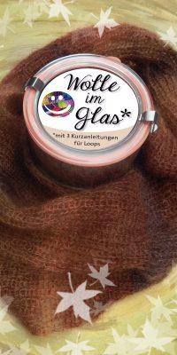 © Die Maschen zum Glück | Wolle im Glas Braun meliert