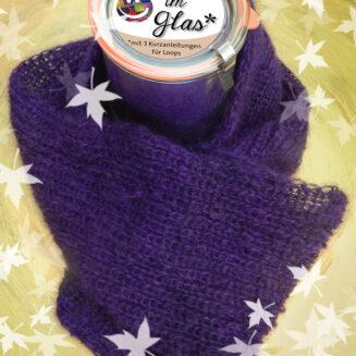 © Die Maschen zum Glück | Wolle im Glas Violett