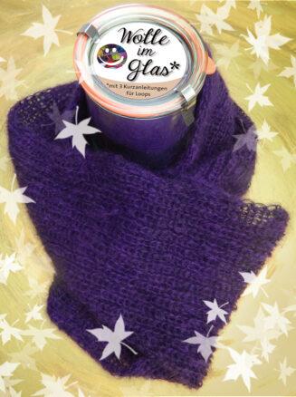 © Die Maschen zum Glück   Wolle im Glas Violett