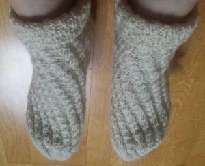 © Die Maschen zum Glück | Fußpflegesocken Lanolin