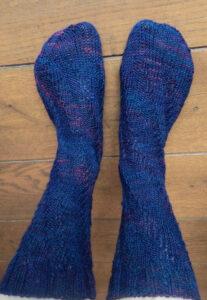 © Die Maschen zum Glück | Socken, Spiralsocken Triologie Sambia von Atelier Zitron