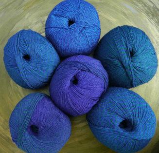 © Die Maschen zum Glück | Zauberwolle Holy Blue von Schoppel Wolle