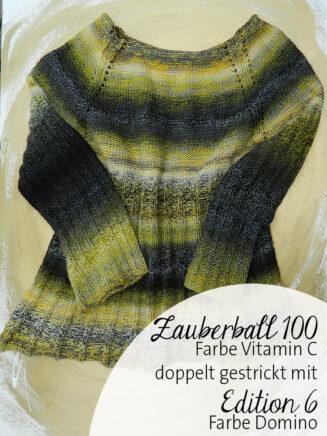 Pullover RVO Zauberball 100 Vitamin C, Zauberball Edition 6 Domino | © Die Maschen zum Glück