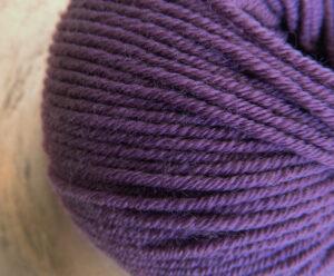 © Die Maschen zum Glück | Ursprung Violett, 100% tasmanische Merino extrafein