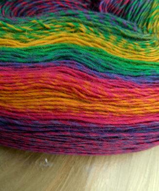 Zauber Flower Bobbel, Farbe Kunterbunt, 100% Merino superwash von Schoppel Wolle | © Die Maschen zum Glück
