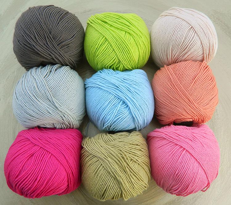 © Die Maschen zum Glück | Echt von Atelier Zitron zertifizierte Bio Baumwolle ohne Gentechnik in strahlenden und sanften Farben