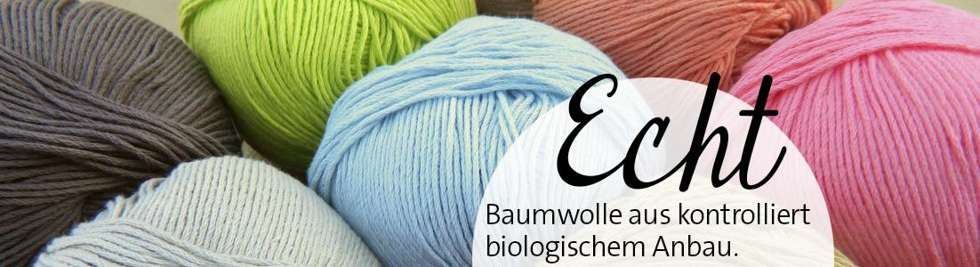Die Maschen zum Glück / Echt Atelier Zitron zertifizierte Bio Baumwolle ohne Gentechnik