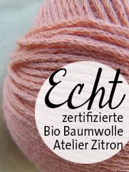 ECHT Bio Baumwolle ohne Gentechnik von Atelier Zitron | © Die Maschen zum Glück
