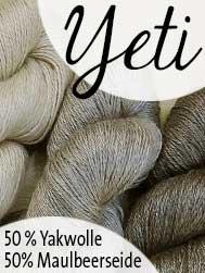 Yeti von Seehawer Naturfasern. 50% Yakwolle. 50% Maulbeerseide | © Die Maschen zum Glück
