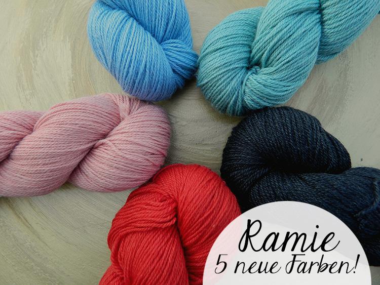 Ramie Sockenwolle Neue Farben Seehawer Naturfasern | © Die Maschen zum Glück