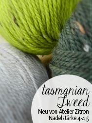Tasmanian Tweed von Atelier Zitron | Tasmanische Merino extrafein mit Viskose Tweed |© Die Maschen zum Glück