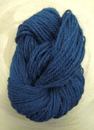 Ziegenhaargarn Meerblau | Seehawer Naturfasern | für Teppiche, Makrame, Wohnaccessoires | © Die Maschen zum Glück