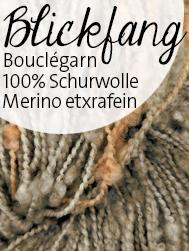 Blickfang von Atelier Zitron | federleichtes Bouclegarn aus 100 % Schurwolle Merino extrafein | © Die Maschen zum Glück