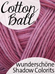 Cotton Ball von Schoppel Wolle | 100% Baumwolle in feinen Shadow Colorits | © Die Maschen zum Glück