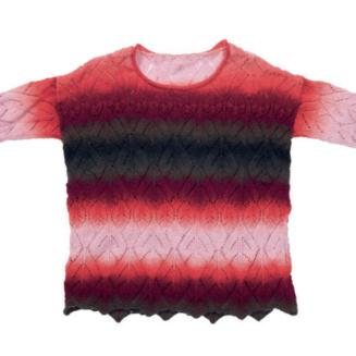 Ajour Pullover aus Zauberball 100 Red to Go | Anleitung gratis bei Garnkauf