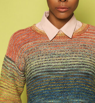 Anleitung Pullover kraus rechts aus Zauberball Crazy Cotton Farbe Urgestein | © Schoppel Wolle
