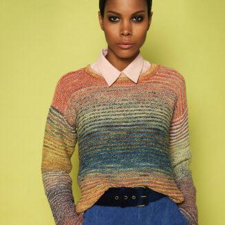 Anleitung Pullover Banaho aus Zauberball Crazy Cotton Farbe Urgestein | © Schoppel Wolle