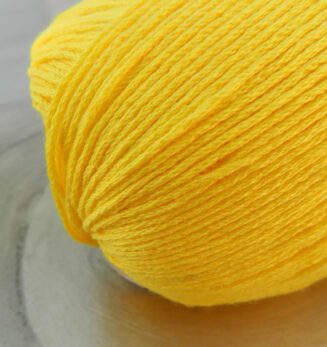 Bio Baumwolle ohne Gentechnik Sonnengelb   Atelier Zitron   für Allergiker geeignet   © Die Maschen zum Glück